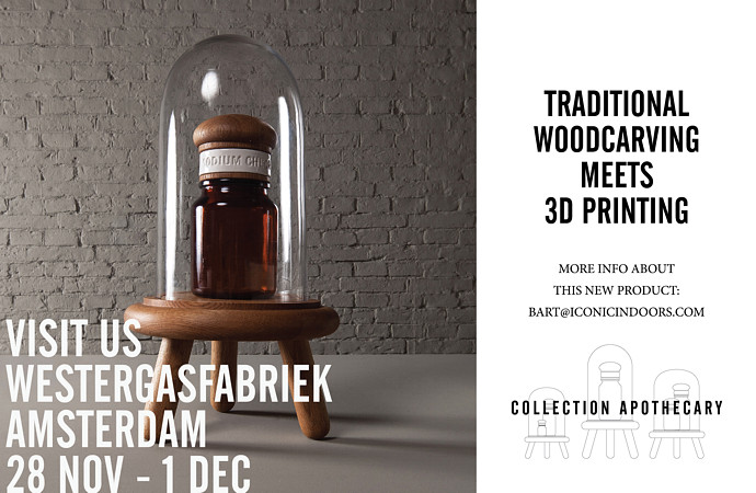 Traditional woodcarving meets 3D printing. Visit us at the Westergasfabriek in Amsterdam 28 Nov - 1 Dec